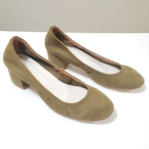 Jeffrey Campbell Leather Heels Olive Green Size 6
